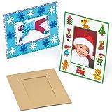 Bilderrahmen aus Pappe für Kinder zum Bemalen Verzieren und Dekorieren (4 Stück)