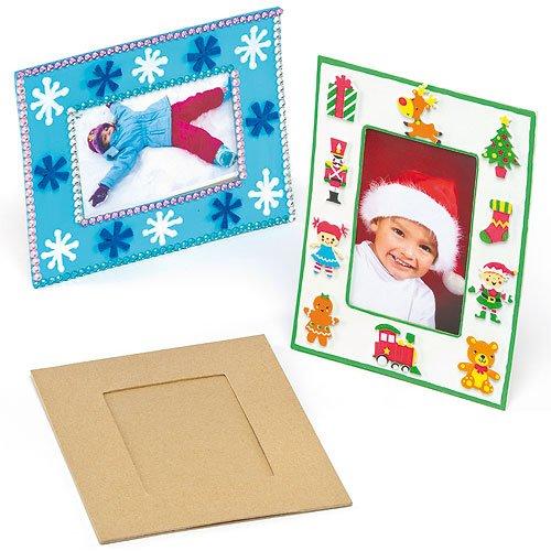 Bilderrahmen aus Pappe für Kinder zum Bemalen Verzieren und Dekorieren (4 Stück) (Bilderrahmen Dekorieren)