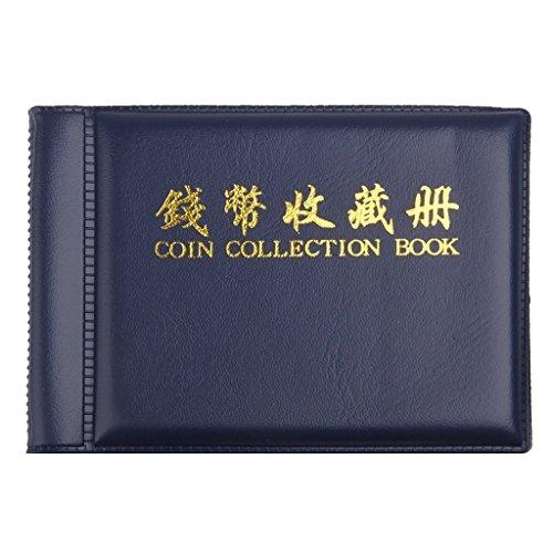 yeah67886tragbar Medaille Sammler sammeln Album 60Münzalbum Halterungen (blau) -