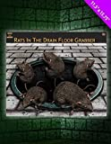 Rats In Drain Floor Sticker Cling - Halloween Party Decoration