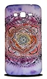Foxercases Design Purple Floral Mandala Hard Back Case Cover for Samsung Galaxy Grand 2