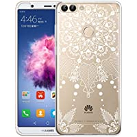 Huawei P Smart Funda, ivencase Carcasa Flexible Ultra Slim Transparente Crystal Clear Soft TPU Silicone Back Bumper de Alta Resistencia Skin Case Cover para Huawei P smart / Huawei Enjoy 7S