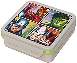 Marvel Avengers Plastic Lunch Box Set, 3-Pieces, Multicolour (HMRPLB 253-AV)