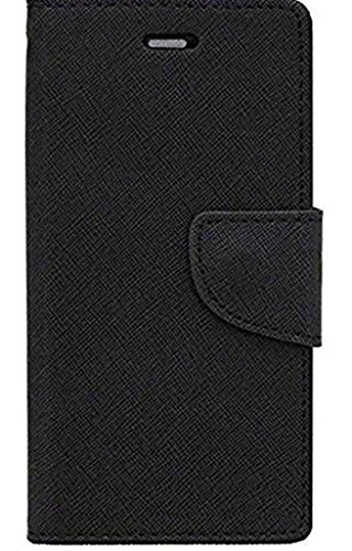 SCHOFIC Faux Leather Diary Mobile Flip Cover with Card Slots, Stand View and Magnetic Strap Motorola Moto G Turbo/Moto G3 (Black)