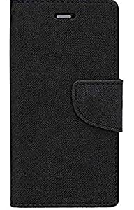 SCHOFIC Flip Cover For Microsoft Lumia 435 - Best Black