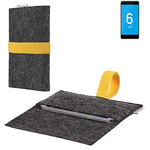 flat.design vegane Handy Hülle Aveiro für Vernee Mars Pro 4G passgenaue Filz Tasche Case Sleeve Made in Germany