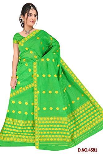 """Assamese Mekhela Chadar """"RAMDHENU-GREEN"""""""