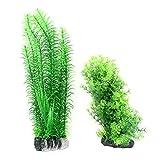 Pine Design-Aquarium Wasserpflanzen Dekor 2 Stück Grün