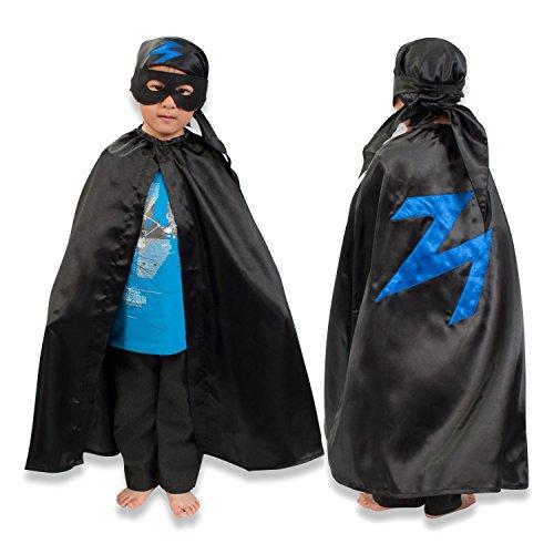 r (3-8 Jahre alt) - Umhang, Kopftuch und Maske - Zorro Kostüm - Slimy Toad (Bandit Kostüm Kinder)
