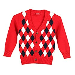 Lilliput Boys Cardigans (8907264047449_Red_4-5 Years)