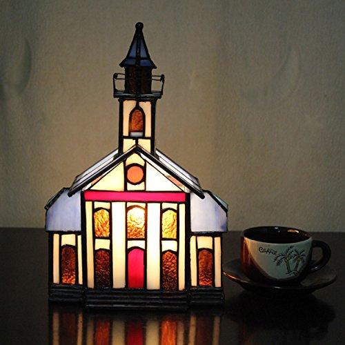 Art-kleines Haus-Landhaus-Tabellen-Lampen-Kinderlampen-Nachtlicht (Deco-schreibtisch-lampe)
