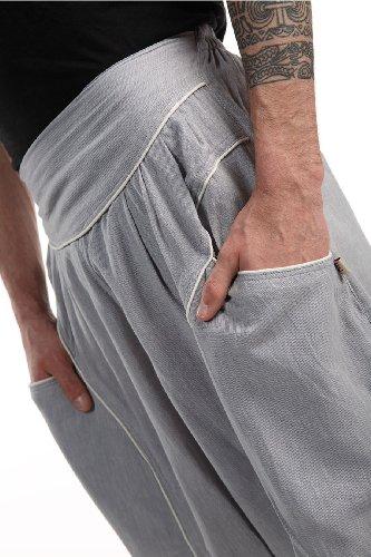- Pantalon sarouel baggy aladin homme femme gris clair - Gris