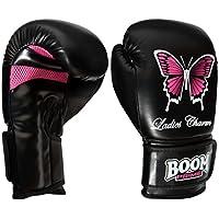 Boom Prime pour femme Rex Cuir Gants de boxe 170,1- 396,9gram Sac de frappe MMA Muay Thai entraînement Arts martiaux Gants de Sparring (anglais)