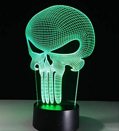 3D Led Farbe Nachtlicht Ändern Lampe Halloween Schädel Licht Acryl 3D Hologramm Illusion Schreibtischlampe Für Kinder Geschenk