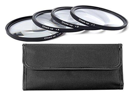 Galleria fotografica 77MM (77 mm)Set Di 4 Filtri Close-up Macro (Primi Piani) Diottrie Filtro +1, +2, +4, +10 per Canon, Carl Zeiss, Fujifilm, Nikon, Panasonic, Pentax, Olympus, Samsung, Sigma, Sony, Tamron, Tokina Obiettivo