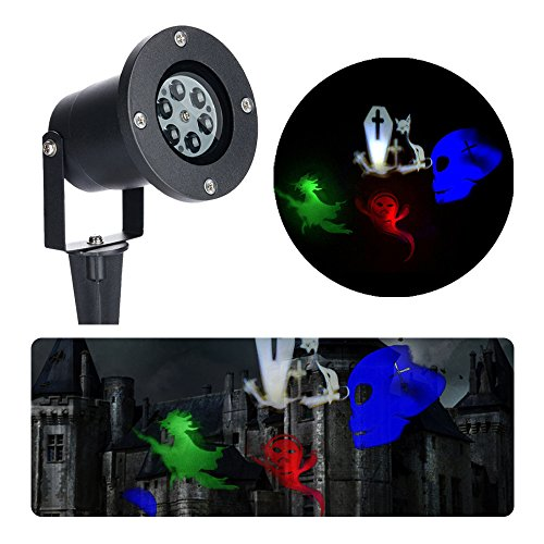 Halloween Ghost Dekorationen (Unimall LED Projektionslampe Halloween Ghost Dekoration an der Hauswand im)