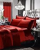 STYLELIVING @ Luxuriöse Ösenvorhänge, komplett gefüttert, glänzend mit Zwei Größen, rot, 168 x 183 cm