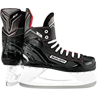 Bauer NS Ice Hockey - Patines, Negro/Rojo, UK 11.5 / EU 47 / US 12.5