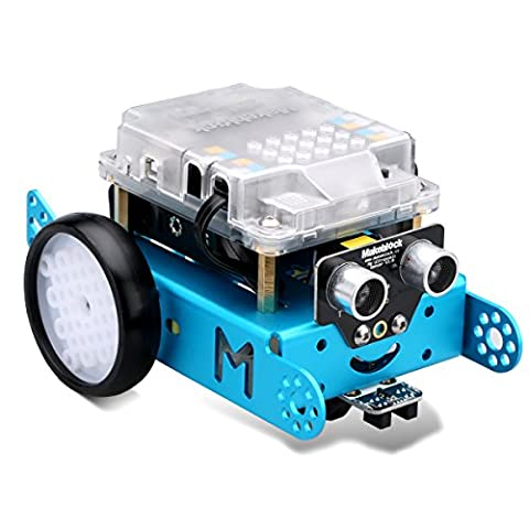 Makeblock MBot V1.1 STEM Educational Programming Robot Kit DIY Arduino C Graphical Roboter Kit Blau (Bluetooth Version Upgrated Version)