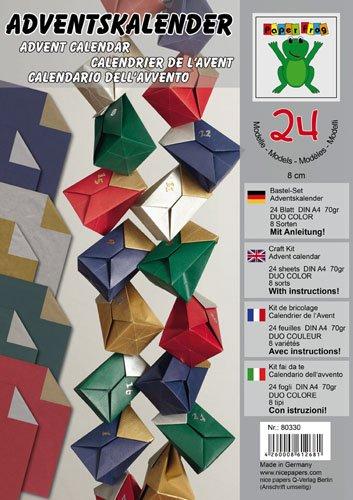 Preisvergleich Produktbild EFCO - Bastel - Set Adventskalender A4 24 Blatt / 70 g/m² farbig sortiert by nice papers Q-Verlag Berlin e.K.