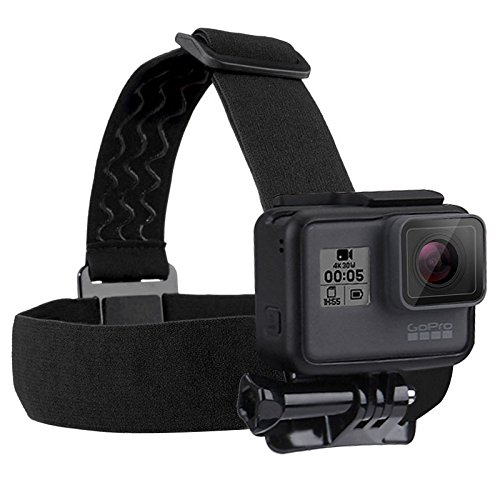 For Go Pro Accessories Adjustable Elastic Head Mount Belt Head Strap for GoPro HERO5 HERO4 Session HERO 5 4 3+ 3 2 1 Sports Camera (Belt Mount)
