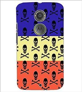 PrintDhaba Skull D-5757 Back Case Cover for MOTOROLA MOTO X2 (Multi-Coloured)