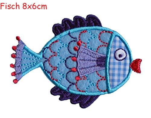 Pesce 8x6cm è un toppa termoadhesiva ricamati patch TrickyBoo - gelsomino Congratulazioni Per Il Battesimo Di Cotone Jeans Queen Anne Argyle Fai Da Te Merceria Decorazione Colorato Personalizzato Lettere Bambino 1 2 l 0 - Divisori Di Fibra Divisori