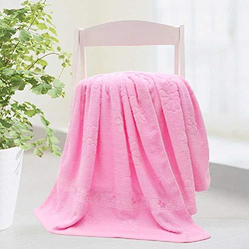 DUNDUNGUOJI Bath Towel Baumwolle, Handtuch, Pflaumensaft, Wassertuch. 70 * 140cm/Pink