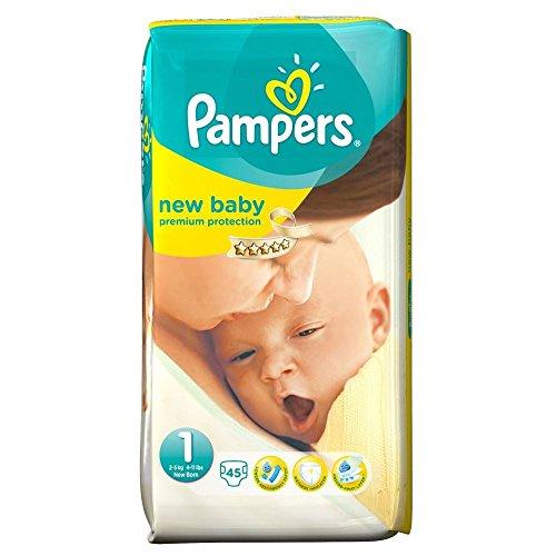 Preisvergleich Produktbild Pampers New Baby Größe 1 Newborn 2-5kg (45) - Packung mit 2