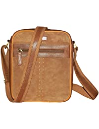 Kan 100% Genuine Leather Crossbody Sling Bag||Messenger Bag||Handbag||Hard Disk Bag||Neck Pouch||Shoulder Bag... - B071QYLDDB