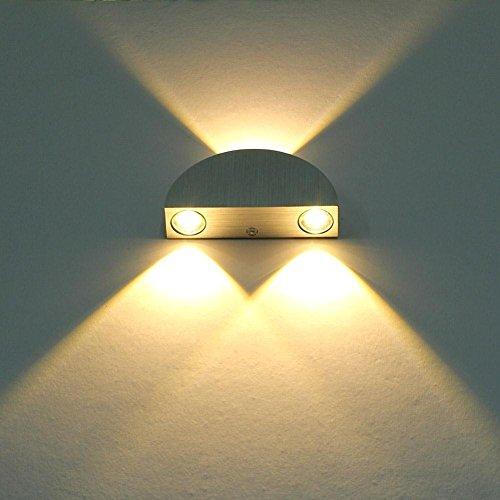 Lightess 3W Led wandleuchten innen aus Aluminium Licht Leuchte für Theater Studio Store Halle Porch Korridor Nacht Schlafzimmer, warmes Weiß Wandleuchte Home Theater