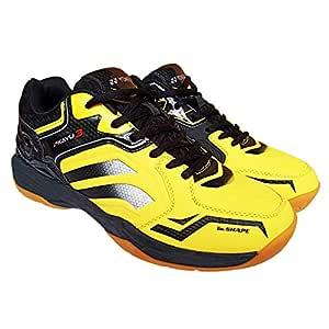 Yonex AK3 Non Marking Badminton Court Shoes - Black/Yellow - 5 UK