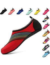 5045fd299ea AGOLOD Water Shoes Mens Womens Barefoot Shoes Beach Snorkeling Swimming  Quick Drying Slip On Yoga Shoes Skin Socks Sports Aqua Shoes for…