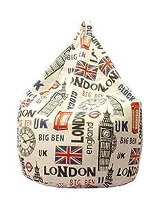 13Casa - Londra A9 - Poltrona sacco. Dim: 70x70x110 h cm. Col: Fantasia. Mat: Poliestere.