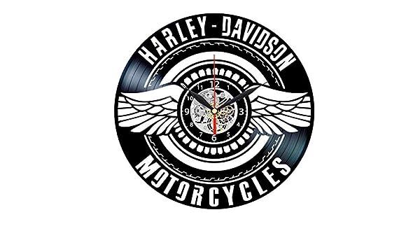 Vintage Harley Davidson Gifts for Men 12 inches D/écoration Murale avec Disque Vinyle TTZSE Davidson Vinyl Clock