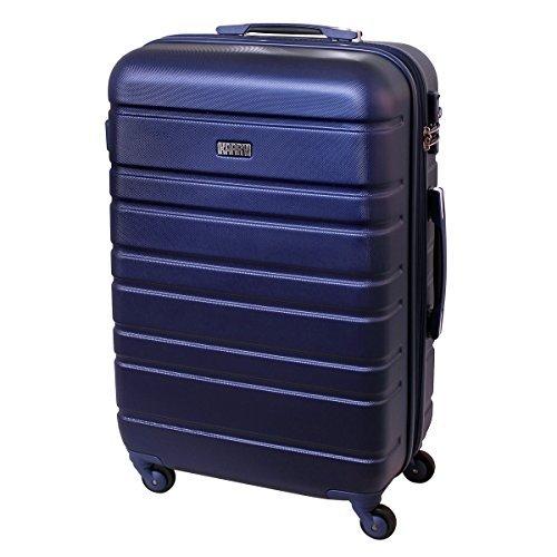 Karry XL Hartschalen Reise Koffer Trolley TSA Schloss 80 Liter Saphir Blau 815 B