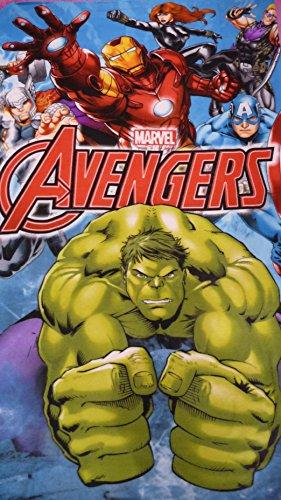 Marvel mv16178150x 100cm Avengers Coperta in pile