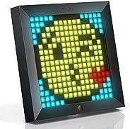 Divoom Pixoo Pixel Art Digitaler Bilderrahmen, Programmierbares 16 * 16 RGB LED Panel, Smart Clock mit Social