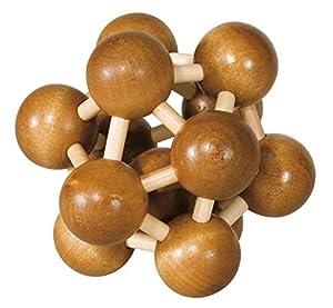 Fridolin 17469-  Rompecabezas de madera de bambú