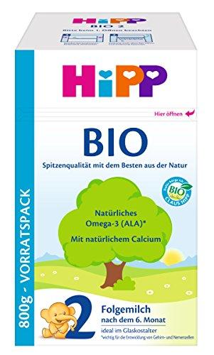 HiPP 2 Bio, Folgemilch nach dem 6 Monat, 4er Pack (4 x 800 g)