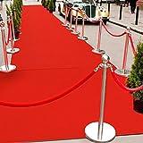 GUORRUI-Tappeto Matrimonio Pila Bassa Rosso Moquette USA E Getta Assorbimento Acustico A Prova di umidità Tappeto Lungo Le Scale Palcoscenico (Color : Red, Size : 1x5m)