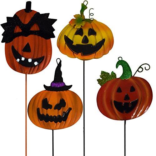 Halloween Yard dem Spiel Dekorationen Kürbis Jack O Laterne, Metall Garten Yard Schilder, Set of 4Outdoor Party Decor von Gift Boutique -