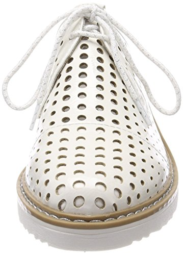 Marco Tozzi 23506, Scarpe Stringate Oxford Donna Bianco (White Patent)