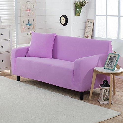 Amazon Color sólido Lleno-cubra Funda para sofá Telar Poliester Punto Funda elástica para sofá Europeo A prueba de polvo Protector para sofás-M 4 plazas