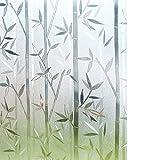 Rabbitgoo 3D Statisch Haftende Fensterfolie Dekorfolie Sichtschutzfolie Fensterschutzfolie Anti-UV Upgrade Version 90 * 200cm