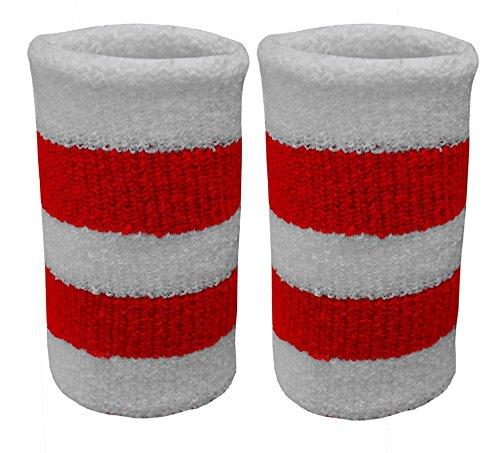 Eshopping Warehouse Mens Marathon 118 Fancy Dress Retro Vest Shorts Tash Socks Wig Vest Costume Set (2 Wrist Band Only, One Size)
