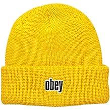 Obey , Bonnet , Homme Jaune Jaune Taille Unique