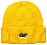 Obey - Gorro de Punto - para Hombre Amarillo Amarillo Talla única