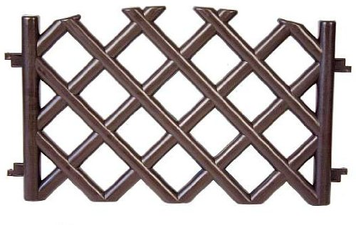 brown-35-m-long-plastic-garden-picket-fence-4-colours