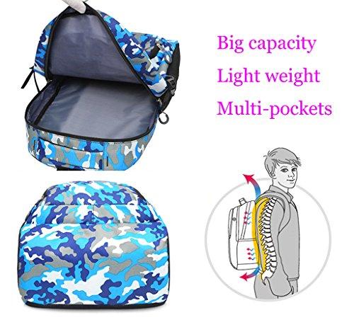 Super Modern Unisex Schule Nylon Tasche Kinder Rucksack Buch Rucksack Cool Sports Rucksack Grün